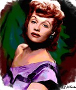 Motion Picture Star Prints - Lucille Ball Print by Allen Glass