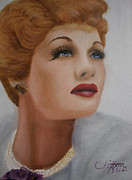 Clifton Painting Posters - Lucille Ball Poster by Sandy Clifton