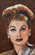 Film Painting Originals - Lucille Ball by Shirl Theis