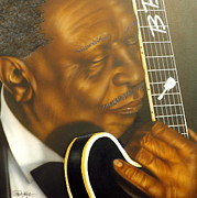 Guitarists Paintings - Lucille by Darren Robinson