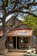 Luckenbach Framed Prints - Luckenbach Post Office Framed Print by Inge Johnsson