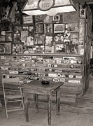 Texas Star 2 Bw Framed Prints - Luckenbach Texas Backroom Saloon 2  Framed Print by Elizabeth  Sullivan
