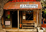Luckenbach Framed Prints - Luckenbach Texas Post Office Framed Print by Lyn Scott