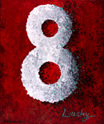 Number Painting Posters - Lucky 8 Poster by Michelle Boudreaux