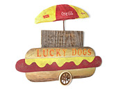 Benjamin Bullins Art - Lucky Dogs Cart  by Benjamin Bullins