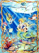 Saltlife Posters - Lucky Fisherman Poster by Cyndi Eastburn