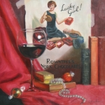 Wine Painting Originals - Lucky Girl by Anna Bain