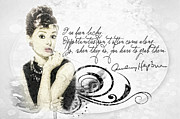 Audrey Hepburn Framed Prints - Lucky Framed Print by Mo T