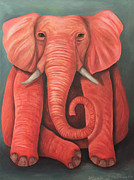 Leah Saulnier The Painting Maniac - Lucky Pink Elephant