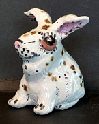Glass Ceramics - Lucky Rabbit made in USA from a lump of clay by Debbie Limoli