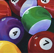 Pool Balls Posters - Lucky Seven Poster by Natasha Denger