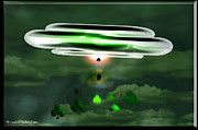 Abduction Digital Art Prints - Lucky UFO Print by LeeAnn McLaneGoetz McLaneGoetzStudioLLCcom