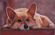 Corgi Prints - Lucy Print by Billie Colson