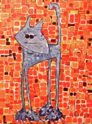 Cool Cats Paintings - Lucy Bleu by Donna Howard