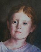Girl With Long Hair Framed Prints - Lucy Framed Print by Kevin Hopkins