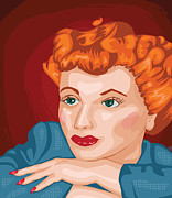 Midcentury Painting Prints - Lucy Print by Whitney Morton