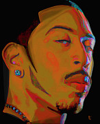 Brown Digital Art Originals - Ludacris by Byron Fli Walker