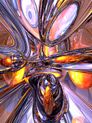 Fanciful Metal Prints - ludicrous Voyage Abstract Metal Print by Alexander Butler
