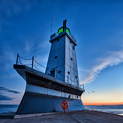 Water Art - Ludington Lighthouse by Sebastian Musial