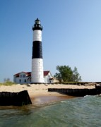 Bar Photos - Ludington Michigans Big Sable Lighthouse by Michelle Calkins