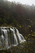 Ludlowville Falls In Autumn I Print by Michele Steffey