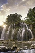 Buttermilk Falls State Park Prints - Ludlowville Falls in Summer Print by Michele Steffey