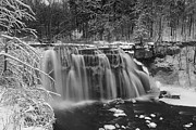 Ice Wine Framed Prints - Ludlowville Falls in Winter I Framed Print by Michele Steffey