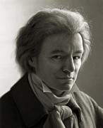 People Metal Prints - Ludwig van Beethoven Metal Print by Dirk Dzimirsky
