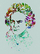 Beethoven Framed Prints - Ludwig van Beethoven Framed Print by Irina  March