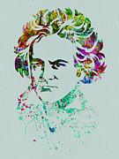 Ludwig Van Beethoven Print by Naxart Studio