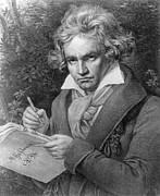 Ludwig Van Beethoven Print by Joseph Carl Stieler