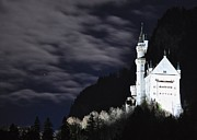 Moonlit Night Photo Originals - Ludwigs castle at night by Matt MacMillan