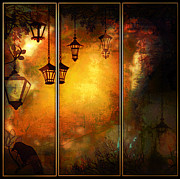 Mansion Digital Art Originals - Lugrube Night Mural by Arco Montufar