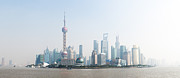 Asie Framed Prints - Lujiazui daylight Panorama - Shanghai Framed Print by Philippe LEJEANVRE