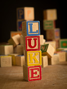 Alphabet Metal Prints - LUKE - Alphabet Blocks Metal Print by Edward Fielding