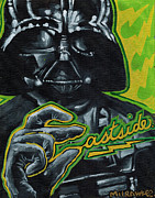 Darth Vader Paintings - Luke come to the east side by Amanda Iglinski