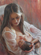 Mother Painting Originals - Lullaby by Anna Bain