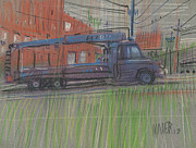 Delivery Truck Paintings - Lumber Truck by Donald Maier