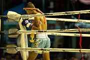 Kick Boxing Prints - Lumpinee Fighter  Print by Grant  Stirton
