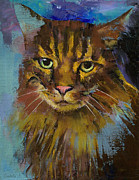 Gato Paintings - Luna by Michael Creese