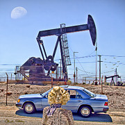 American Oil Wells Posters - Luna Oil Poster by Chuck Staley