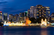 Sydney Skyline Framed Prints - Luna Park - North Sydney Framed Print by Andre Distel