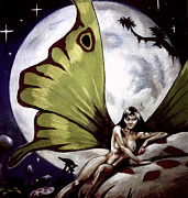 Luna Moth Drawings - Luna by T Ezell