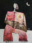Woman Mixed Media Framed Prints - Lunam No. 3  Framed Print by Mark M  Mellon