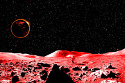 Discovery Art - Lunar Eclipse as seen from the Moon by J D Owen