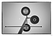 Grunge Photo Framed Prints - Lunar Lamp - Art Unexpected Framed Print by Tom Mc Nemar