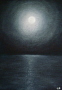 Featured Pastels Originals - Lunar Radiance by John Schwartz