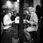 Old Window Photos - Lunch by David Bowman