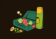 Mario Digital Art Metal Prints - Lunch for all Metal Print by Budi Satria Kwan