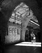 Black And White New York City Prints - Lunchtime at Chelsea Market Print by Rona Black
